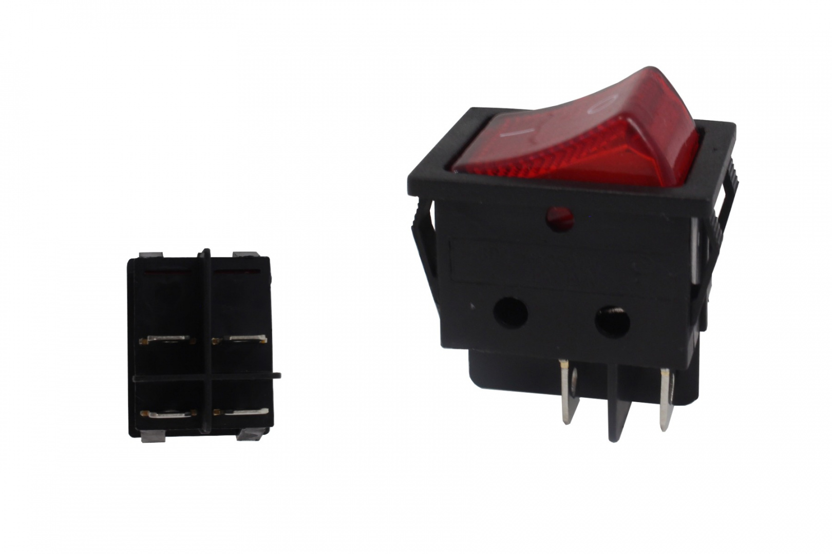 Włącznik rocker 4 PIN Red - GRUBYGARAGE - Sklep Tuningowy